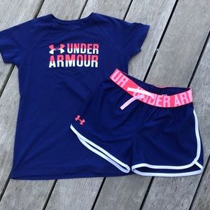 Under armor matching shirt/shorts